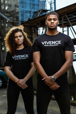 VIVENCE KYW T-SHIRT – BLACK/WHITE