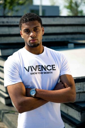 VIVENCE KYW T-SHIRT – WHITE/BLACK